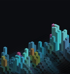 Abstract isometric blocks background 2302 vector