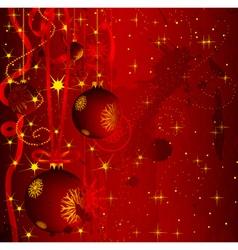grunge christmas greeting card vector image