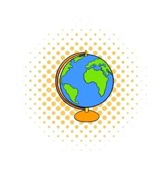 Globe icon in comics style vector