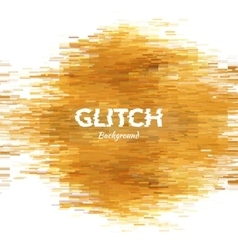 Abstract glitch textured background corrupted vector