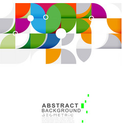 Abstract colorful and creative geometric vector