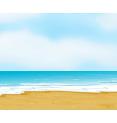 An ocean and a beach vector