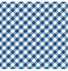Blue and white argyle tablecloth seamless pattern vector