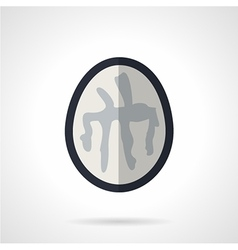 Brain ct flat icon vector