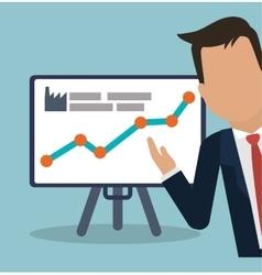 Businessman presentation board chart graph vector