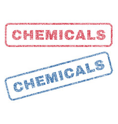 Chemicals textile stamps vector