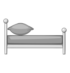 Children bed icon gray monochrome style vector