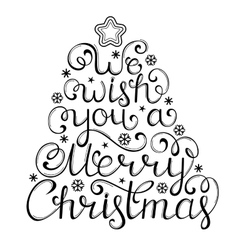 Christmas congratulation on white background vector image