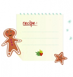 Christmas recipe with cookies vector image vector image