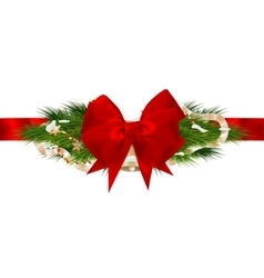 Christmas ribbon decoration EPS 10 vector image vector image