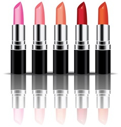 colorful lipstick vector image vector image