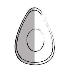 Fresh avocado vegetable icon vector