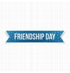 Friendship day realistic blue paper ribbon vector
