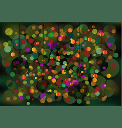 Greeting card bright new-year backg vector