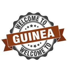 Guinea round ribbon seal vector