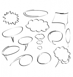 hand drawn dialog bubbles vector vector image vector image
