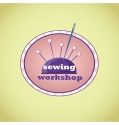 Hand drawn sewing lable vector image