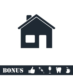 Home icon flat vector image vector image