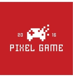 Joystick Pixel game flat style vector image vector image