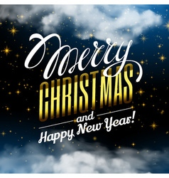Marry christmas and happy new year magic christmas vector