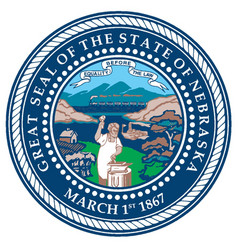 nebraska state seal vector image vector image