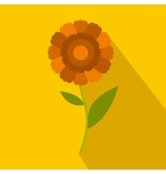 Orange flower icon flat style vector