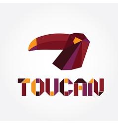 Origami toucan vector