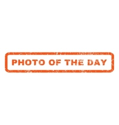 Photo of the day rubber stamp vector
