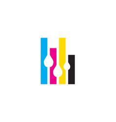 Printing logo vector
