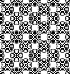 Seamless concentric circle pattern background vector
