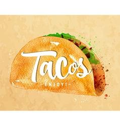 Tacos kraft vector