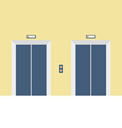 Two Closed Doors Elevator vector image vector image