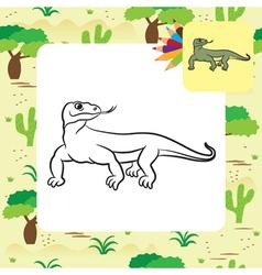 Varan coloring page vector