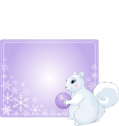 winter greetings vector image vector image