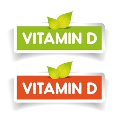 Vitamin d label set vector
