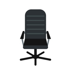 Office leather chair icon flat style vector