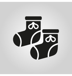 Babys bootees icon design socks sox symbol web vector