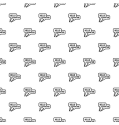 Bubble speeches with greetings inside pattern vector image