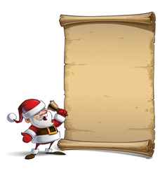 Happy santa scroll ho ho ho vector