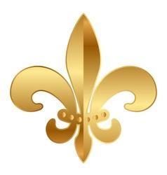 gold Fleur-de-lis ornament vector image