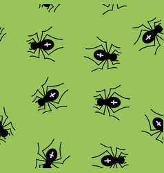 Poisonous spider seamless pattern vector