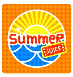 Summer juice label vector