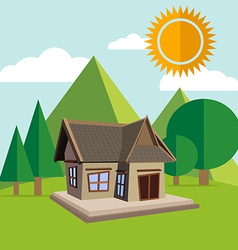 Landscape with house vector