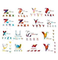 Abstract company logo mega collection type vector