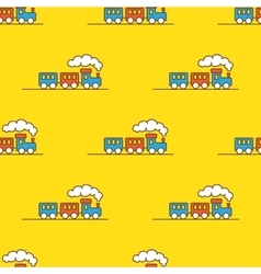Cartoon toy seamless pattern little steam vector