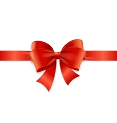 Red Satin Ribbon vector image