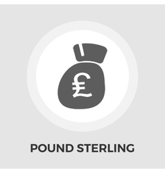 Pound sterling icon flat vector