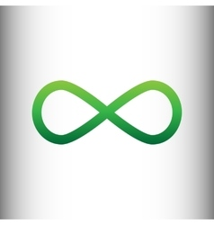 Limitless symbol green gradient icon vector