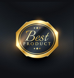 Best product premium golden label symbol vector