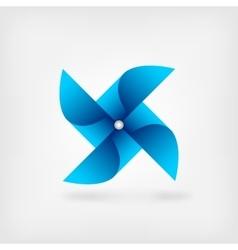 Blue pinwheel symbol vector